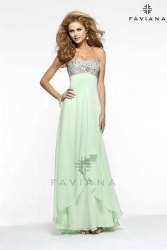 "Faviana 7335 ""Beautiful #faviana #gown perfect for #prom or #nightout. Comes in multiple colors. #dress #cocktail #beautiful #evening #spring #ballgown #2014"""