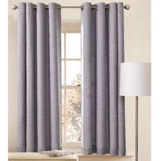 Better Homes and Gardens Solid Basket-Weave Grommet Panel, 50 x 63, Light School Gray ** Click image to review more details. (This is an affiliate link and I receive a commission for the sales)