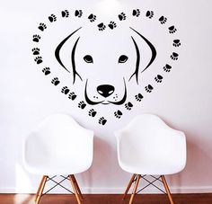 Dogs Wall Decals  Decal Vinyl Sticker Heart Decor Window Dorm Living Room Pet Shop Grooming Salon MN 359                                                                                                                                                                                 More