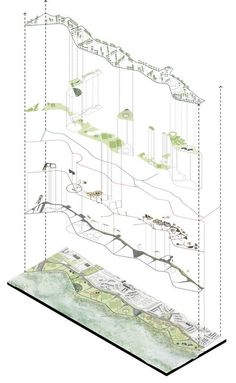 DARP, mención honrosa en concurso de ideas del Parque Juan Amarillo en Bogotá,Isométrico general. Image Cortesía de DARP