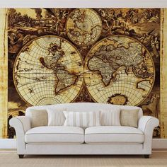 Interior Inspiration Pulled From India Hicks Naturally In The - World map wallpaper for walls india