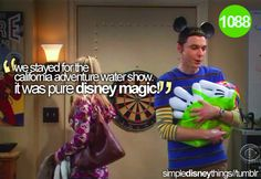 Even Sheldon knows Disney magic...one of my faves talking about my all time FAVE