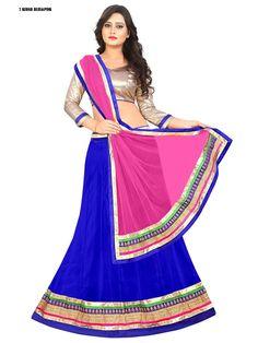 Beautiful Pink/Blue Lehenga Choli (L)