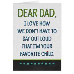 Custom Dear Dad Card