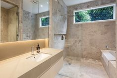 Check out this luxurious marble ensuite, created by Creative Cabinets. Bathroom Goals, Cabinets, Bathrooms, Marble, Luxury, Creative, Check, Design, Armoires