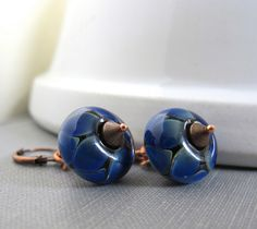 amazing handmade copper jewelry / Deep Blue Green with Amethyst...