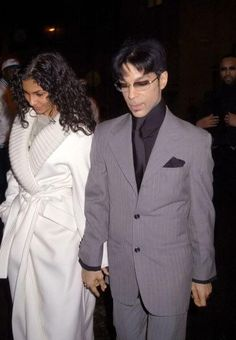 2003 February 20 - Prince and Manuela at Armani Exchange new store opening pre Grammy party, NY