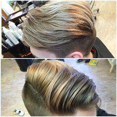Alltid lika roligt när denna kund är på besök. #herrklippning #frisör #klippdejnu #highlights #blond