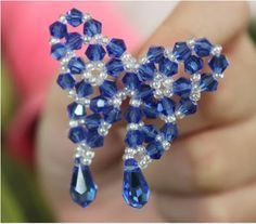 Free steps for Beaded Butterfly Tutorial