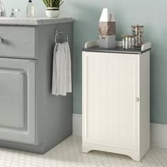 Great for Rosedale W x H Cabinet by Beachcrest Home storage-sale from top store Bathroom Standing Cabinet, Free Standing Cabinets, Bathroom Cabinets, Master Suite Bathroom, Fitted Bathroom, Master Bath, Cabinet Shelving, Open Shelving, Wall Shelves