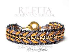 Tutorial LUCREZIA bracelet / bracciale par PerlineeBijoux sur Etsy
