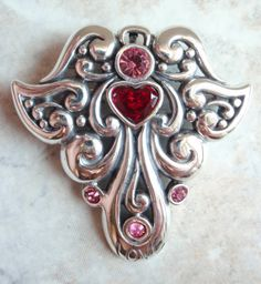 Sterling Silver Barse Love Angel Brooch Pendant by cutterstone, $89.00
