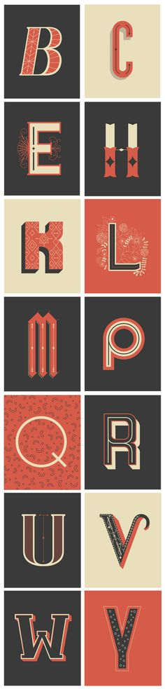Decorative Lettering Postcards on Typography Served