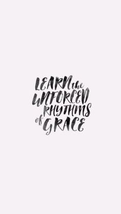 Learn the unforced rhythms of grace. I won't lay anything heavy or ill-fitting on you. Keep company with me and you'll learn to live freely and lightly. Matt 11:29-30  For he chose us in him before the creation of the world to be holy and blameless in his sight. In love he predestined us for adoption to sonship through Jesus Christ, in accordance with his pleasure and will — to the praise of his glorious grace...  KEEP READING → http://www.pktfuel.com/unforced-rhythms-of-grace/