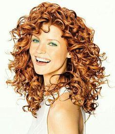 Orange warm red hair curly