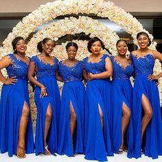 A Line Chiffon African Plus Size Royal Blue royal blue bridesmaid dresses - Bridesmaid Dresses Royal Blue Bridesmaid Dresses, Mermaid Bridesmaid Dresses, Royal Blue Dresses, Brides And Bridesmaids, Wedding Dresses, Dresses Dresses, Bridesmaid Robes, Gown Wedding, Formal Wedding