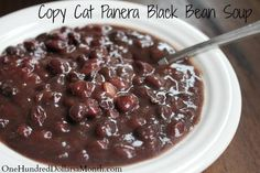Copy Cat Panera Black Bean Soup