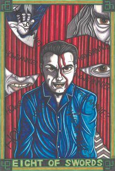 Twin Peaks Tarot Dale Cooper postcard PRINT by MaiafirePrints