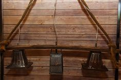 #Rustic #Chandelier From Reclaimed #Wine Stave, Old Rope, #Vintage Toasters and Grater, Canopy is #Reclaimed Wood  by #Llewminate