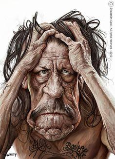 Caricatura de Danny Trejo.: