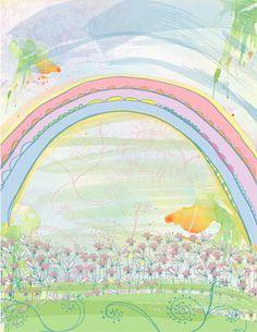 Rainbow mural for Ava's bedroom wall