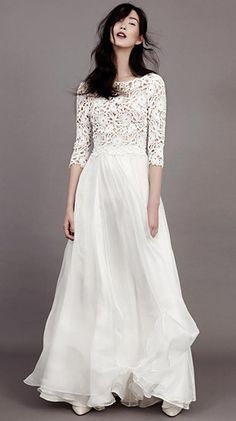Florence sleeved wedding dress by Kavier Gauche