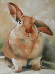 "Daily Paintworks - ""Scratch"" - Original Fine Art for Sale - © Cheryl Wilson Watercolor Animals, Watercolor Art, Illustrations, Illustration Art, Lapin Art, Beautiful Rabbit, Bunny Painting, Rabbit Art, Bunny Art"