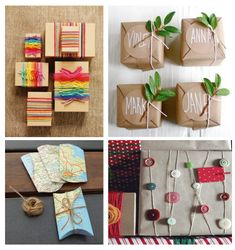 Recycle to decorate and package gifts. I have been asking for paper bags at the grocery store to use for some of these things. Besides paper bags are more eco friendly. - Pam