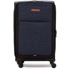 "Timberland Topsfield 24"""" Expandable Spinner Suitcase (€74) ❤ liked on Polyvore featuring bags, luggage and dark denim"