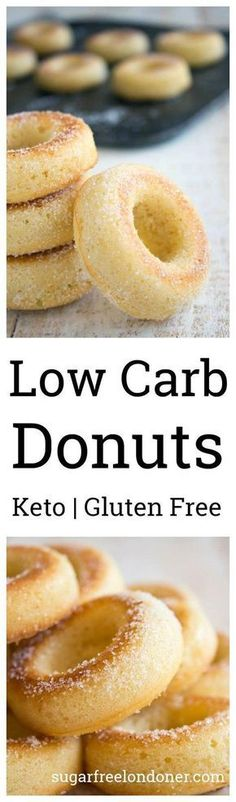 These low carb donuts taste just like the real thing, just without all the sugar and carbs! They are deliciously moist and spongy, with a hint of vanilla flavour. Perfect for Keto, sugar free and gluten free diets.