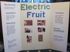 Drew did his Science Fair Project on Electric Fruit. He used an amp meter, copper nail and zinc nail to measure the amount of Electrical Cha. 4th Grade Science Projects, Earth Science Projects, Science Fair Projects Boards, Earth Science Activities, 6th Grade Science, High School Science, Elementary Science, Science Experiments Kids, Science For Kids