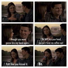 season episode I thought the cannibal they arrested in this episode was so creepy, but I love the episode for this part. Bones Tv Series, Bones Tv Show, Dr Bones, Booth And Bones, Booth And Brennan, Bones Season 8, Season 3, Bones Quotes, Tv Quotes