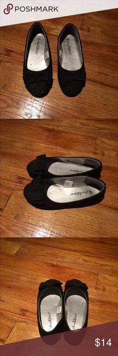 Girls black glittery flats, size 12/13 Girls black glittery flats, good condition, size 12/13 Shoes Dress Shoes