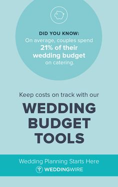 Wedding Budget - Our wedding budget planner will help you track and adjust the expenses for your big day. Simply enter your budget to calculate, track and export a budget breakdown. Wedding Trends, Wedding Tips, Wedding Reception, Wedding Day, Wedding Table, Wedding Stuff, Wedding Venues, Free Wedding, Plan Your Wedding