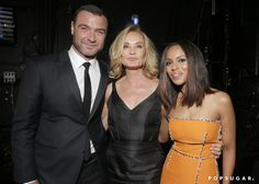 Pin for Later: Relive the Best Moments From the 2014 Emmys  Liev Schreiber, Jessica Lange, and Kerry Washington got together backstage.