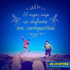 """""""La felicidad solo es real cuando es compartida""""  Encuentra tu felicidad y comparte tus aventuras en nuestra comunidad #Deaventura www.deaventura.pe"""