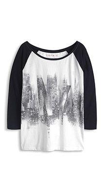 Licht, katoenen shirt met print