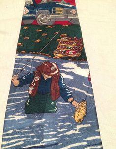 Tabasco Hot Sauce 100% Silk Men's Necktie Fisherman SUV American Flag Bright  #TABASCO #NeckTie