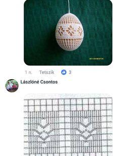 Crochet everything. Crochet Diagram, Filet Crochet, Irish Crochet, Hand Crochet, Crochet Christmas Decorations, Crochet Ornaments, Holiday Crochet, Easter Crochet Patterns, Egg Decorating