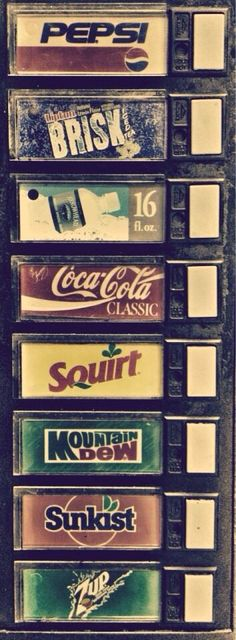 Vintage soda machine, lol.