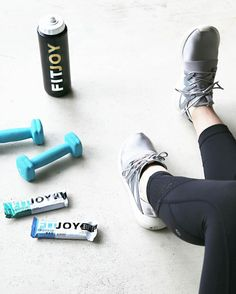 The absolute best way to get motivated for a great workout? New shoes (and some FitJoy bars). #NewYearNewJoy #health #healthy #proteinbar