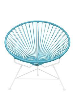 Turquoise blue Innit Chair - Patio string chair looooooooove White Frame - Innit Designs - $398.00 - domino.com