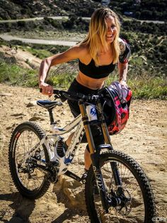 The Female Biker's Viewpoint. Not sure what she's thinking but I love a hot chick on a bike.
