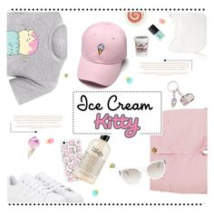 """Ice Cream Kitty"" by cara-mia-mon-cher ❤ liked on Polyvore featuring Pusheen, Forever 21, adidas, philosophy, Current/Elliott, Elie Tahari, Paul & Joe and NARS Cosmetics"