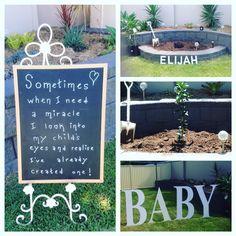 Naming for Elijah with tree planting ritual