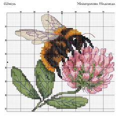 ru / A photo # 3 – Bee – - Cross Stitch Love, Cross Stitch Pictures, Cross Stitch Animals, Cross Stitch Flowers, Cross Stitch Charts, Cross Stitch Designs, Cross Stitch Patterns, Bee Embroidery, Embroidery Patterns Free