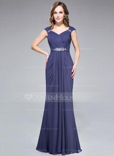 Evening Dresses - $122.99 - Trumpet/Mermaid V-neck Floor-Length Chiffon Evening Dress With Ruffle Beading (022027391) http://jenjenhouse.com/trumpet-mermaid-v-neck-floor-length-chiffon-evening-dress-with-ruffle-beading-022027391-g27391?la=email_newsletter_20140603_en_en&utm_source=NewsLetter&utm_campaign=NewsLetter_20140603_en_en