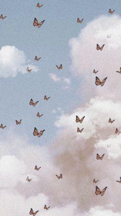 Wallpaper Pastel, Butterfly Wallpaper Iphone, Cute Patterns Wallpaper, Aesthetic Pastel Wallpaper, Iphone Background Wallpaper, Tumblr Wallpaper, Aesthetic Wallpapers, Aesthetic Backgrounds, Cloud Wallpaper
