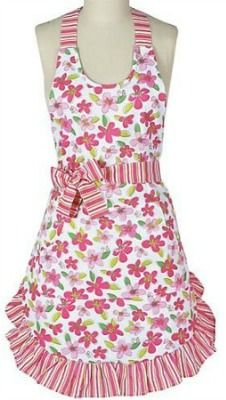 Pink Floral ~ vintage apron for Easter