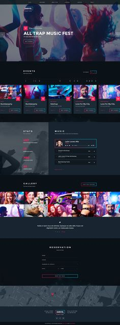 Jarvis Night Club Concert Festival WP Theme com - . - Jarvis Night Club Concert Festival WP Theme com - Wordpress Ecommerce Theme Dj Website, Event Website, Website Layout, Web Layout, Website Ideas, Layout Design, Festival Off, Musica Online, Simple Web Design